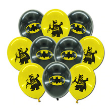 New Hasbro Marvel Superhero Spiderman Batman Avengers Printing Birthday Theme Party Decoration Latex Balloon Set Children's Toys