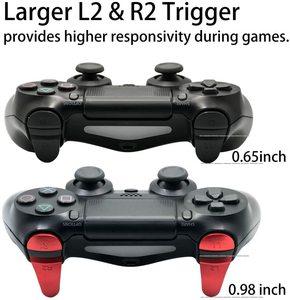 Image 5 - מתכת אלומיניום החלפת תיקון התאמה אישית L1 L2 & R1 R2 הדק כפתור Extender עבור PS4/רזה/פרו JDM 040 JDS 040 בקר