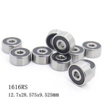 """1616 2RS ABEC-1 (10PCS)  1/2""""x1 1/8""""x3/8"""" inch Ball Bearings 12.7mm x 28.575mm x 9.525mm 1616RS"""