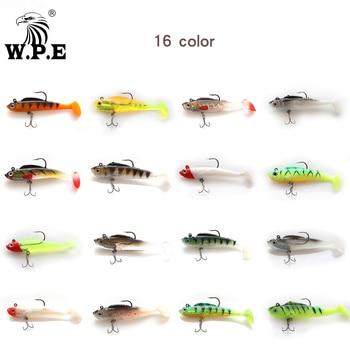 W.P.E new soft bait 1pcs 8cm / 10cm / 12cm / 14cm lead head fishing bait jig fishing bait top water popper bait hard bait rocker good bait