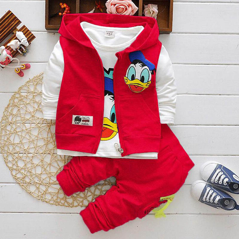 Boys Clothes Suits Cartoon Baby Kids Boys Outerwear Hoodie Jacket Baby Sport Boys Clothing Sets Suits 6