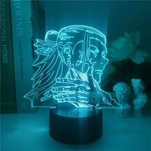 Лампа в японском стиле аниме, ночсветильник юютсу кайсена, светодиодный-Yuji Itadori, подарок на день рождения/украшение комнаты, ночсветильник в...