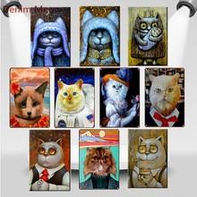 Vintage Animal Metal Tin Signs Cat Ladys Owl Shabby Chic Wall Stickers Mr. Kitchen Home Bar Pub Club Art Craft Decor WY88