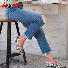 GareMay jeans woman ripped jeans for women blue loose vintage female fashion women new style jeans womens pants casual jeans(China)