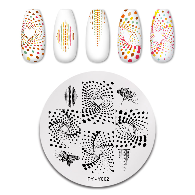 PICT YOU 12*6cm Nail Art Templates Stamping Plate Design Flower Animal Glass Temperature Lace Stamp Templates Plates Image 17