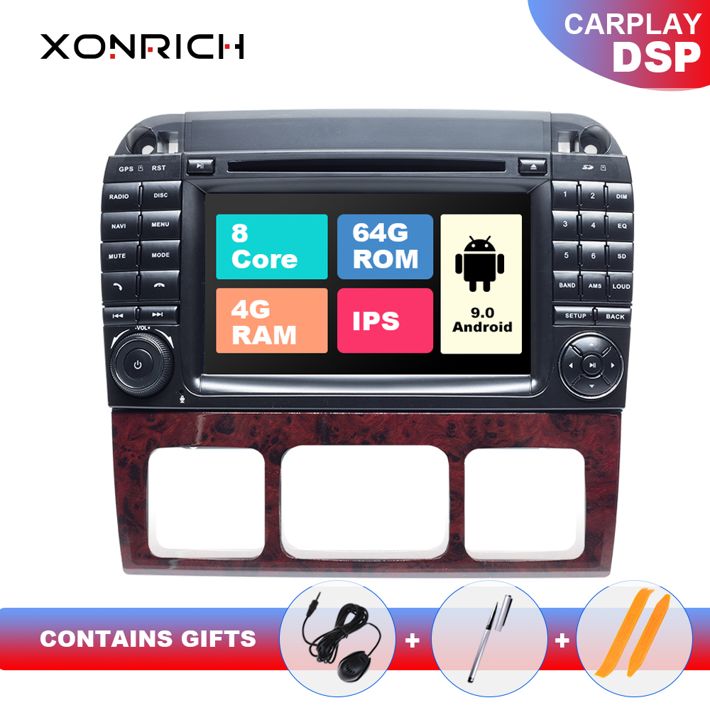 2 din Android 9.0 Car Multimedia Player For Mercedes <font><b>Benz</b></font> S-Class <font><b>W220</b></font> W215 S280 S320 S350 <font><b>S500</b></font> GPS Navigation head unit IPS DSP image