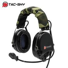 TAC-SKY Airsofte Sordin silicone earmuffs noise reduction pickup military tactical hunting shooting headphones -BK
