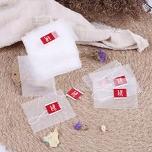 100 pçs sacos de chá infuser com corda curar selo saquinho filtro de papel vazio sacos de chá festa presente saquinho de chá organizador 5x 6cm/6x 7cm/7x8cm