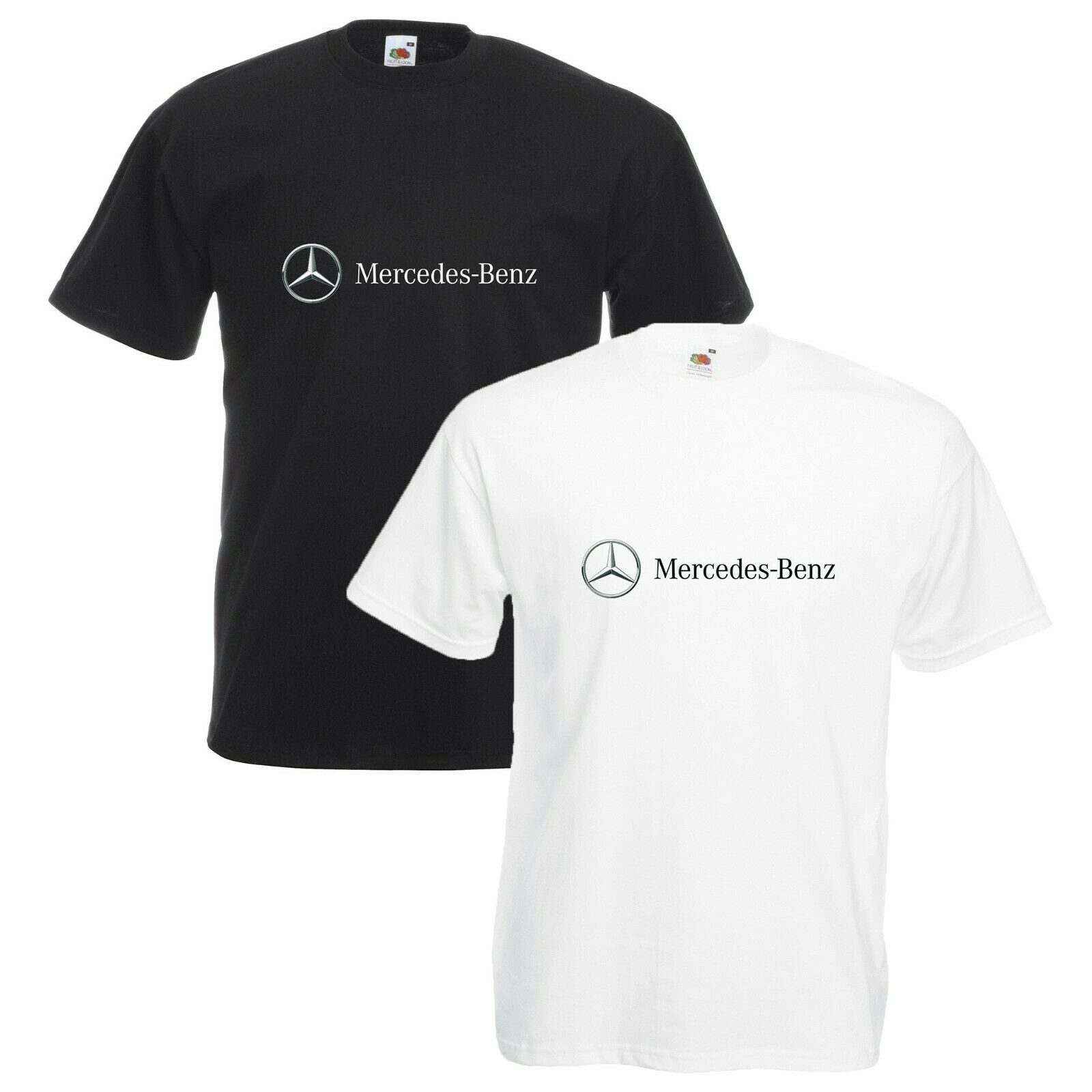 Mercedes T-Shirt Car Enthusiast Merc Badge & Text Unisex Size S-3XL
