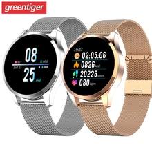 Q9 Smart Uhr Männer Wasserdichte Nachricht Anruf Erinnerung Smartwatch Frauen Herz Rate Monitor Mode Armband Fitness Tracke.