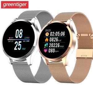 Image 1 - Q9 Smart Watch Men  Waterproof Message Call Reminder Smartwatch Women Heart Rate Monitor Fashion Wristband Fitness Tracke.