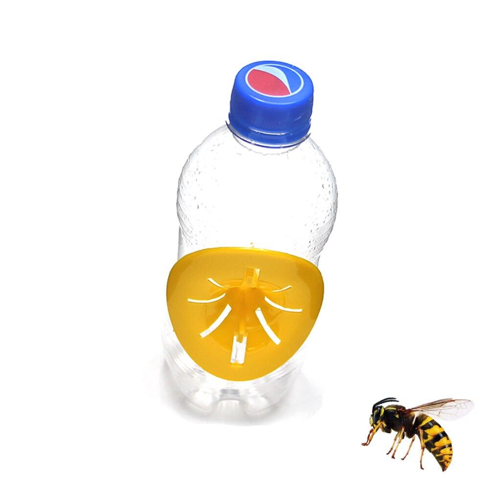 2 adet arıcılık ev bahçe tuzak arı Hornets yakalayıcı çiçek şekilli açık Wasp böcek huni katil yeniden kullanılabilir plastik tuzakları