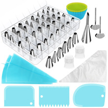 68pcs/set Pastry Nozzles And Coupler Icing Piping Tips Sets Stainless Steel Rose Cream Bakeware Cupcake Cake Decorating Tools pastry nozzles icing piping tips stainless steel rose cream bakeware cupcake cake decorating fondant tools mold