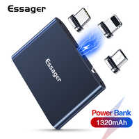 Essager Magnetic Power Bank Micro USB Type C 1320mAh Mini Magnet PowerBank Portable External Battery Charger Pack For iPhone