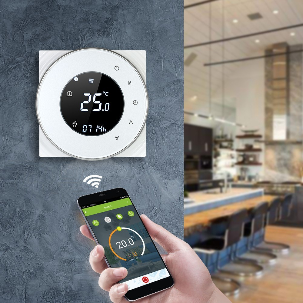 Family 110V/220V 5A Water Heating Smart Thermostat Switch Wifi APP Wireless Temperature Controller Compatible Google Home