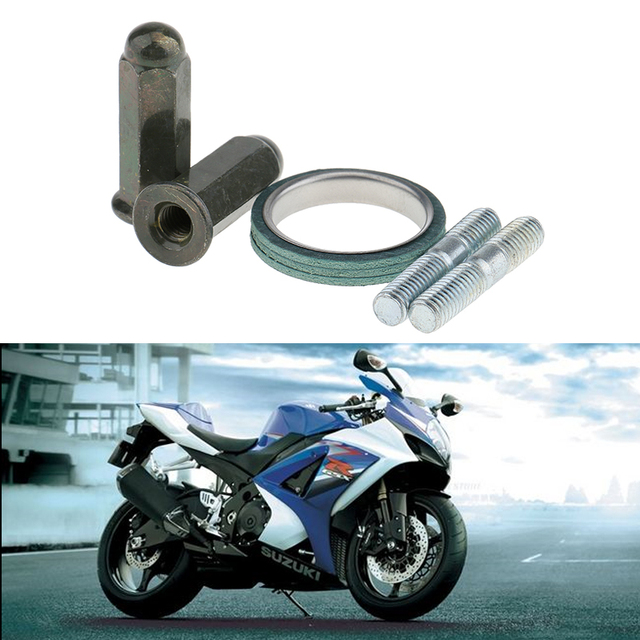 Schrauben M6X32MM Roller Auspuff Muttern + Stubs + Dichtung Auspuff Rohr Schalldämpfer Schalldämpfer Gy6 50cc Moped Roller 139qmb 150cc 125cc