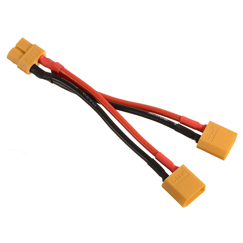10cm XT60 Plug Power Parallel Battery Connector Cable Dual Y Extension Lines  Cable Extension DIY Male&Female Battery Cable