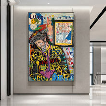 Street Graffiti Art Modern man Canvas Painting Last Happymen Posters And Portrait Painting Wall Art For Living Room Home Decor