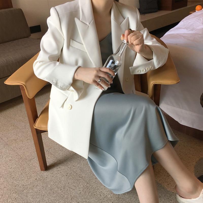High Quality Classic Women's Jacket Fashion Waist Slim White Suit Female