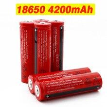 18650 Batterie 3,7 V 4200 mAh Li-Ion Akku für LED Taschenlampe Akkus Accelerator