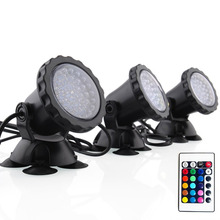 3Pcs Fish Tank Pond Garden Decoration Lamp RGB Waterproof Aquarium LED Spot Light with Remote Control