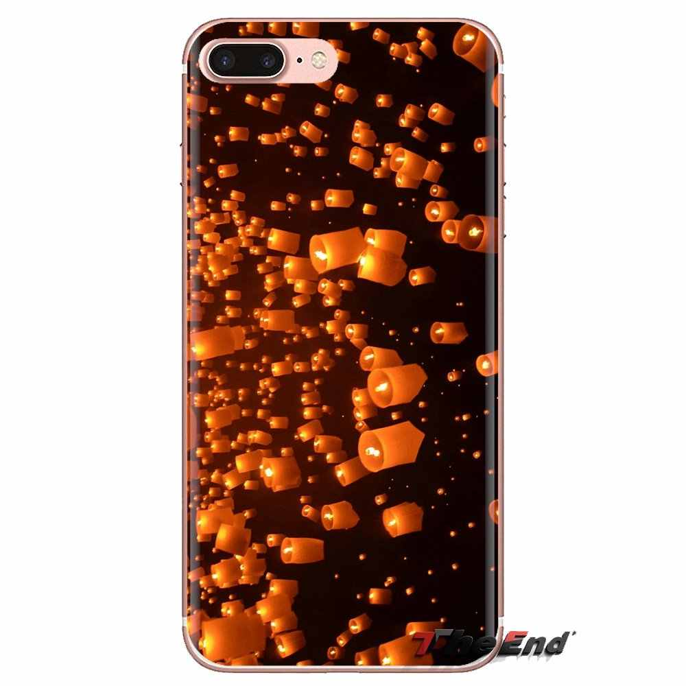 Festival de linterna flotante de cielo nocturno para Huawei Honor 7X V10 6C V9 6A Play 9 Mate 10 Pro Y7 Y5 p8 P10 Lite más GR5 2017 TPU caso