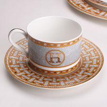 Coffee Cup And Saucer Bone China Steak Steak Plate Model Room Decoration Ceramic Western Dishes Plate(China)