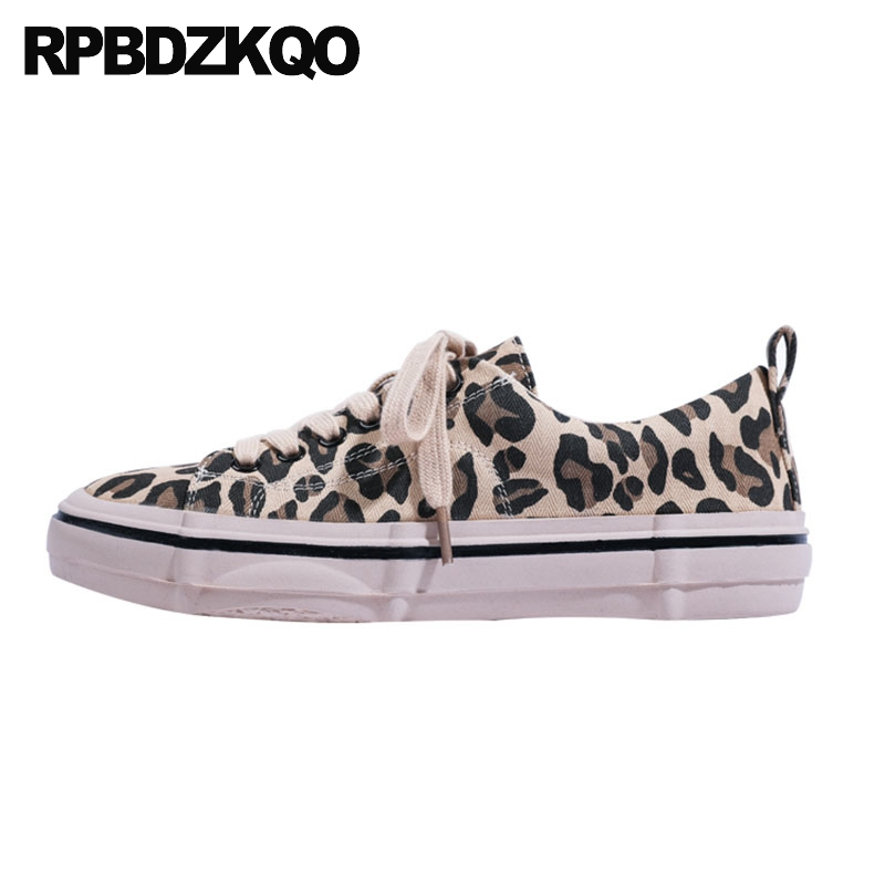 lace up flats designer chinese leopard print china round toe women 2019 spring autumn factory direct ladies retro canvas shoes