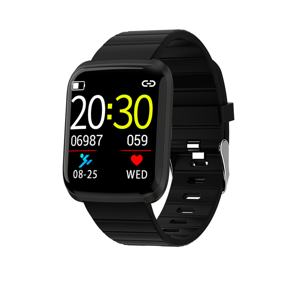 116 PRO Bluetooth Smart Watch Color Screen Smart Bracelet Sports Wristband Fitness Tracker Heart Rate Monitor For Android IOS