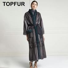 TOPFUR Real Fur Coat Women Winter Coat Women Leather Jacket Natural Mink Fur Coat Plus Size Real Fur Jacket 2019 Winter Mink Fur