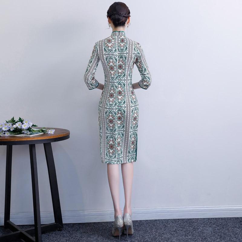 2019 New Style Cheongsam YWCA Chinese Year Skirt GIRL'S Chinese-style Improved Edition Cheongsam Dress Young Woman Cheongsam