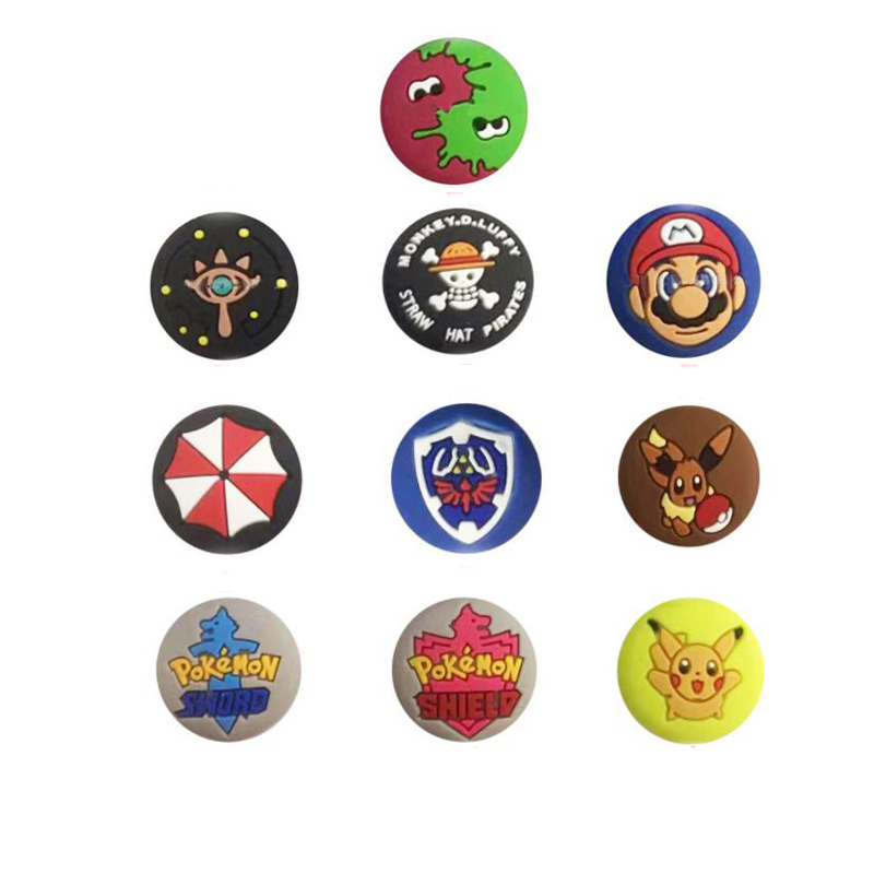 Thumb Stick Grip Cap Joystick Cover For Pokemon Pocket Monster Nintend Switch Lite NS Joy-Con Controller Gamepad Thumbstick Case