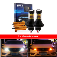 DRL Car LED Canbus DRL Car LED luci di marcia indicatore di direzione Dual Mode esterno T20 7440 WY21W per Nissan Murano Z51 2012