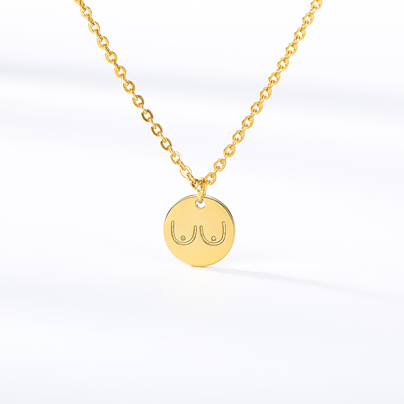 Fashion Flower Round Necklaces Gold Color Pendant Necklace for Women Collares Mujer Bijoux Collier Elegant Femmal Jewelry Gift in Chain Necklaces from Jewelry Accessories