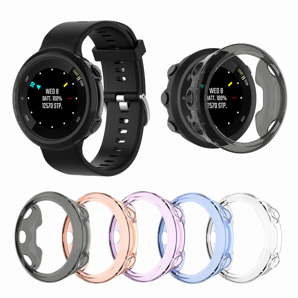 Silicone Case Cover For Garmin Forerunner 45 45S Smart Watch TPU Protector Frame Shell For Garmin 45/45S Bracelet Accessories