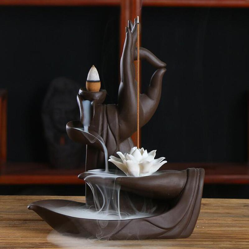 Cascada zen con flor de loto 1