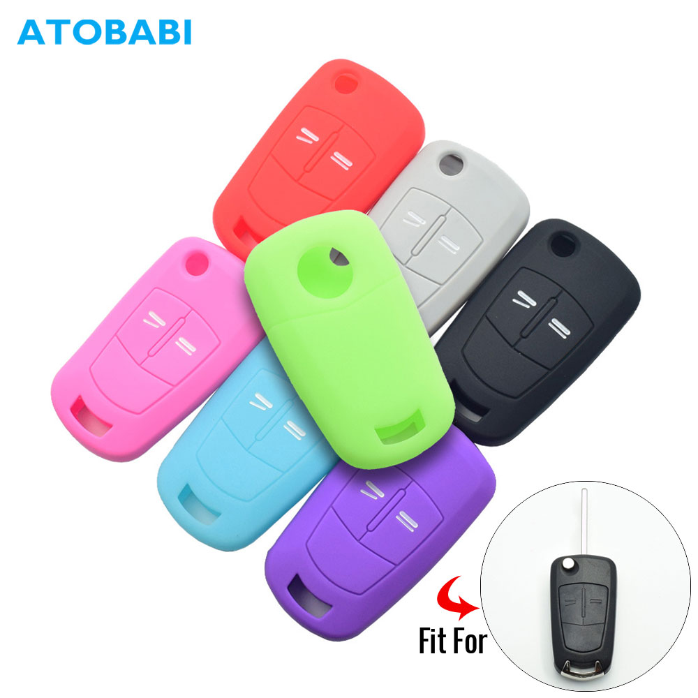 Silicone Car Key Case For Opel Vauxhall Astra Corsa Vectra Signum Tigra 2 Button Folding Remote Fob Cover Keychain Protector Bag
