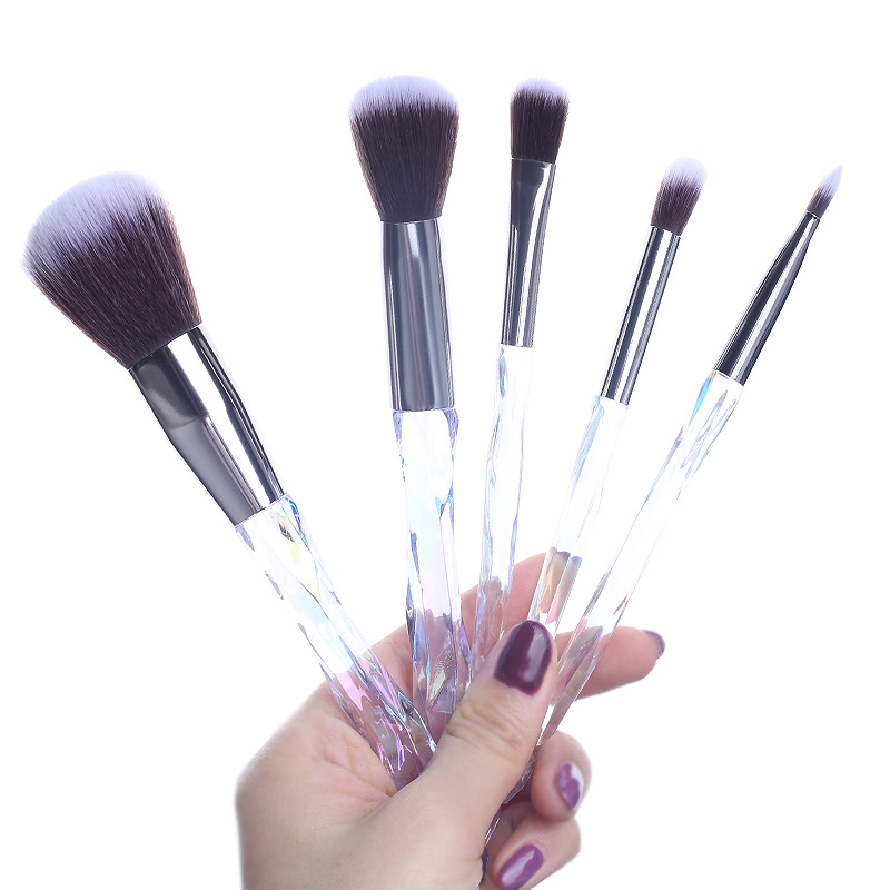 Set Of Natural Powder Highlighter Foundation Makeup Brushes For Cosmetic Eyeliner Sponge Blush Professional Artist Beautiful