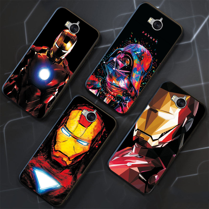 Black TPU Phone Shell For <font><b>Huawei</b></font> Y6 2017 <font><b>Case</b></font> <font><b>Marvel</b></font> Avengers For <font><b>Huawei</b></font> Y5 II Y6 II Y5 2017 Back Cover on Y9 2018 <font><b>Y7</b></font> <font><b>2019</b></font> <font><b>Case</b></font> image