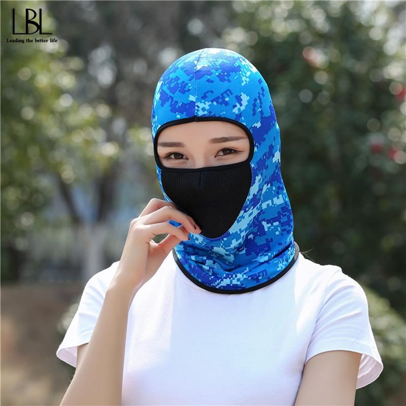 Breathable Bike Scarf Neck Gaiter Half Face Mask Splice Head Bandanas Shield Headband Headwear Hiking Scarves Women Men Outdoor