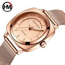 Luxury Women Watches For Women Square Quartz Wristwatches Fashion Brand Ladies Dress Waterproof Mesh Steel Watch montre femme