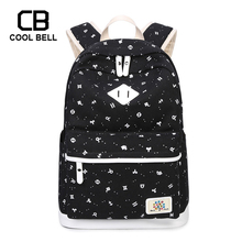 Canvas Waterproof Women Printing Backpack School Bags For Teenager Girls Sports Kids Children