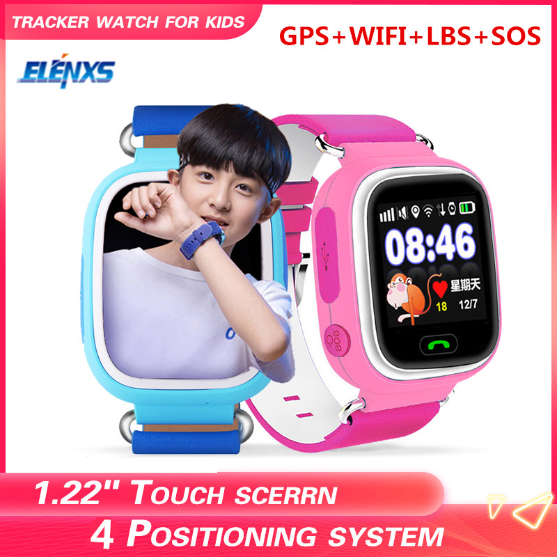 <font><b>Q90</b></font> GPS <font><b>Kid</b></font> <font><b>Smart</b></font> <font><b>Watch</b></font> Baby Anti-lost Wristwatch SOS Call Location Device Tracker Smartwatch image