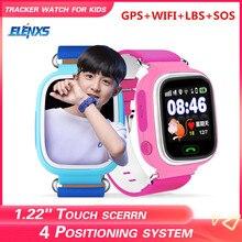 Q90 GPS çocuk akıllı saat bebek anti kayıp kol SOS çağrı konumu cihaz Tracker Smartwatch