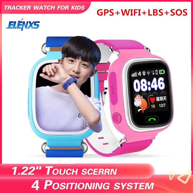 Q90 gps criança relógio inteligente bebê anti-perdido relógio de pulso sos chamada dispositivo localização rastreador smartwatch