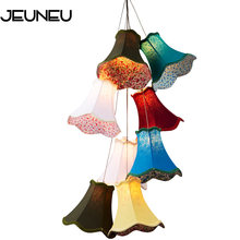 Современные кластеры красочные тканевые тени g4 подвесные светильники