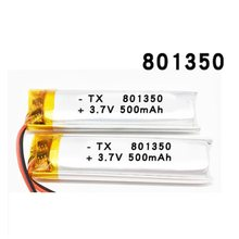 801350 3.7V 500mAh Rechargeable Li-Polymer Battery For GPS mp3 mp4 DVR Recording pen bluetooth Bicycle rear Tail Light 081350(China)