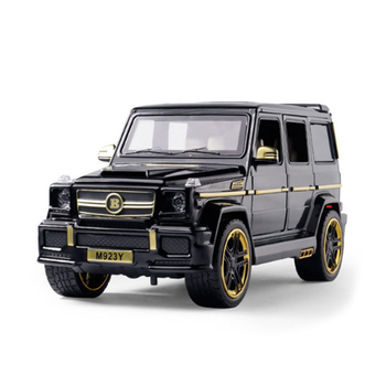KIDAMI 1:24 Diecast Toy Car Model G65 Off-road Vehicle Suv Sound And Light Boy Car Model Pull Back Toys Collection Kids Gift 1 32 bmw m8 modified racing car with sound and light children s alloy toy car model collection gift pull back vehicle