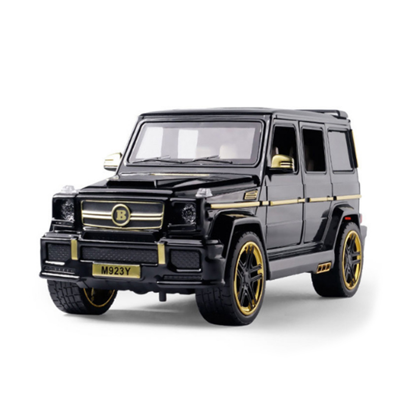 KIDAMI 1:24 Diecast Toy Car Model G65 Off-road Vehicle Suv Sound And Light Door Car Model Pull Back Toys Collection Kids Gift