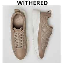 Zwiędły styl angielski prosta moda skóra bydlęca prawdziwa skóra komfort pikowanie zimowe buty wulkanizowane buty damskie trampki damskie tanie tanio daveanddi Prawdziwej skóry CN (pochodzenie) Stałe Dla dorosłych Skóra licowa Zima Niska (1 cm-3 cm) Pasuje prawda na wymiar weź swój normalny rozmiar